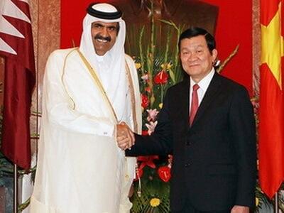 Quốc vương Nhà nước Qatar Sheikh Hamad Bin Khalifa Al Thani thăm chính thức Việt Nam