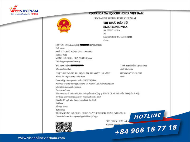 Vietnam e-visa (electronic visa) for Australian citizens